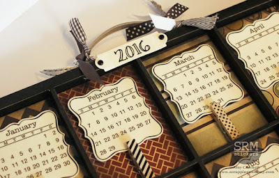 SRM Stickers Blog - ATC Tray 2016 Calendar by Amy - #minicalendars #die #calendar #ATC #2016 #DIY