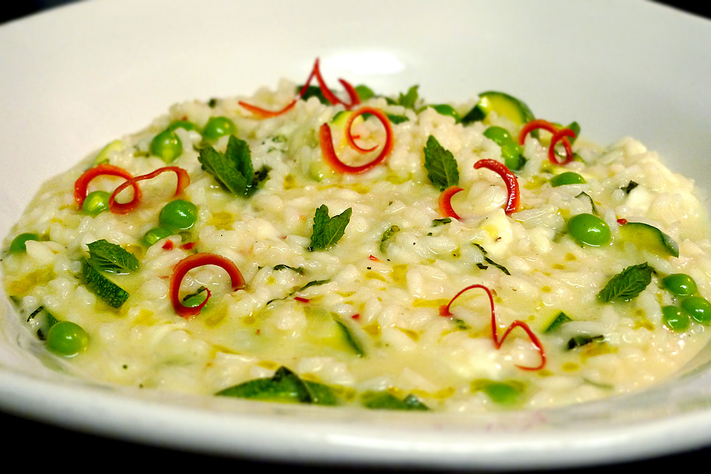 The Sauce Whisperer: Fresh Pea and Courgette Risotto with Mint, Chilli ...