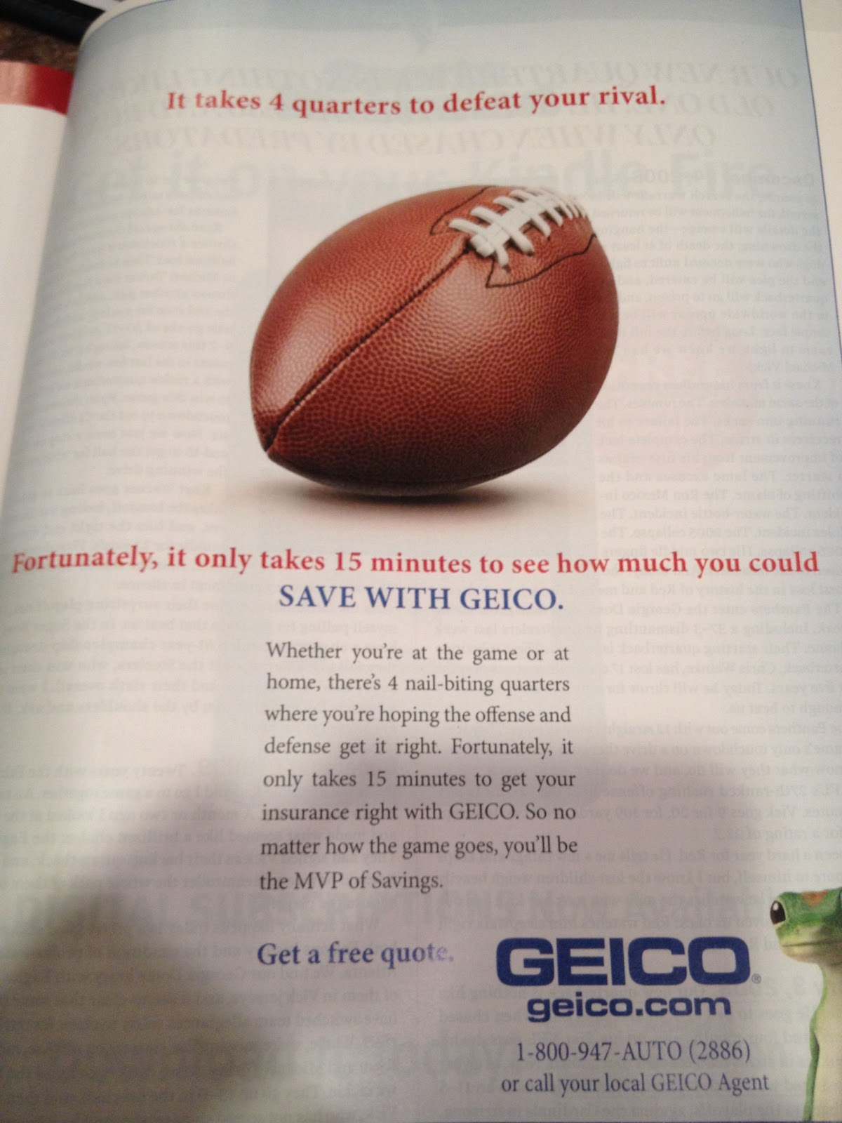 Geico Free Quote Medc 5310 Media And Culture Geico Print Ad  Sports Illustrated