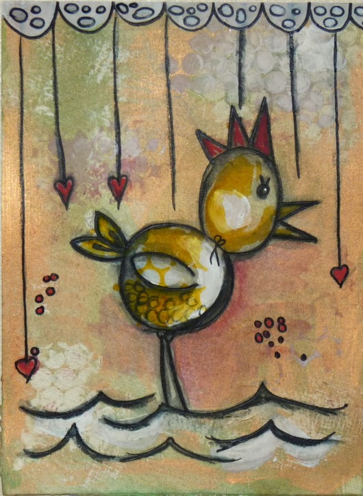 Whoopidooings: Carmen Wing - Quick Mixed Media birdies