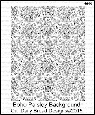 Our Daily Bread Designs Stamp set: Boho Paisley Background