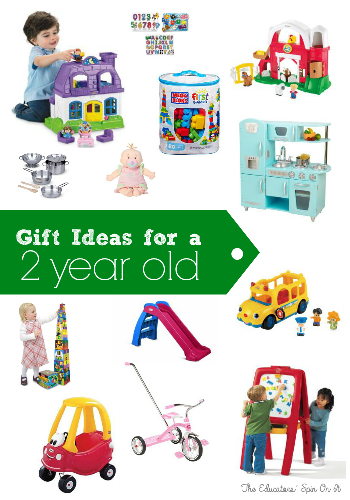 Gift Ideas for 2 year olds from Moms of 3 and Teachers at The Educators' Spin On It