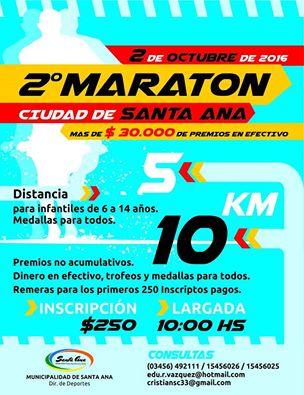 2º MARATÓN CIUDAD DE SANTA ANA 2016