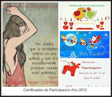 Certificados Año 2012