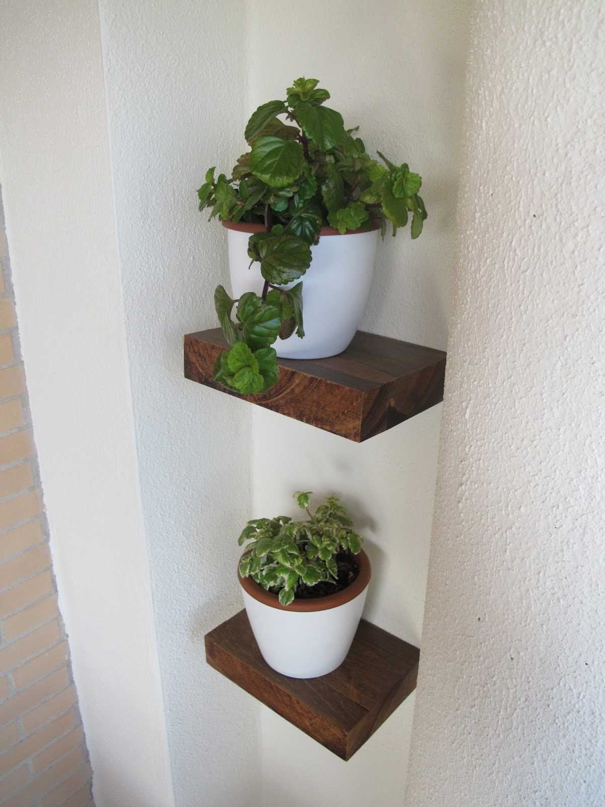 Bricomonxo estante flotante de madera maciza fijaci n - Estantes para macetas ...