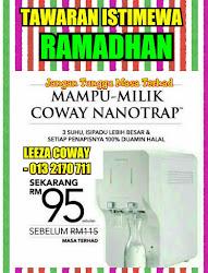 Coway Nanotrap RM95.00/bulan dilanjutkan sehingga Disember 2016