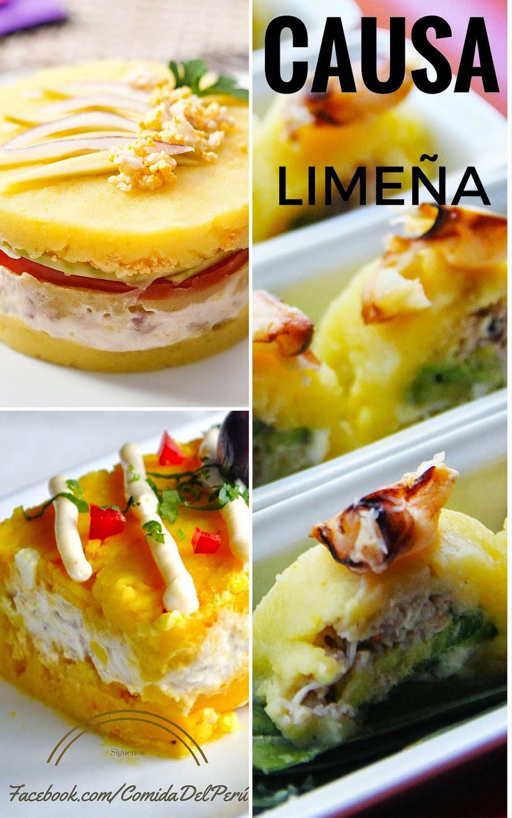 RECETA DE CAUSA LIMEÑA - Peruvian recipes