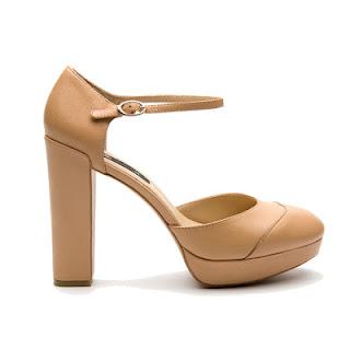 Mango heels nude