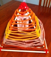 how to make a 3d pyramid for school project