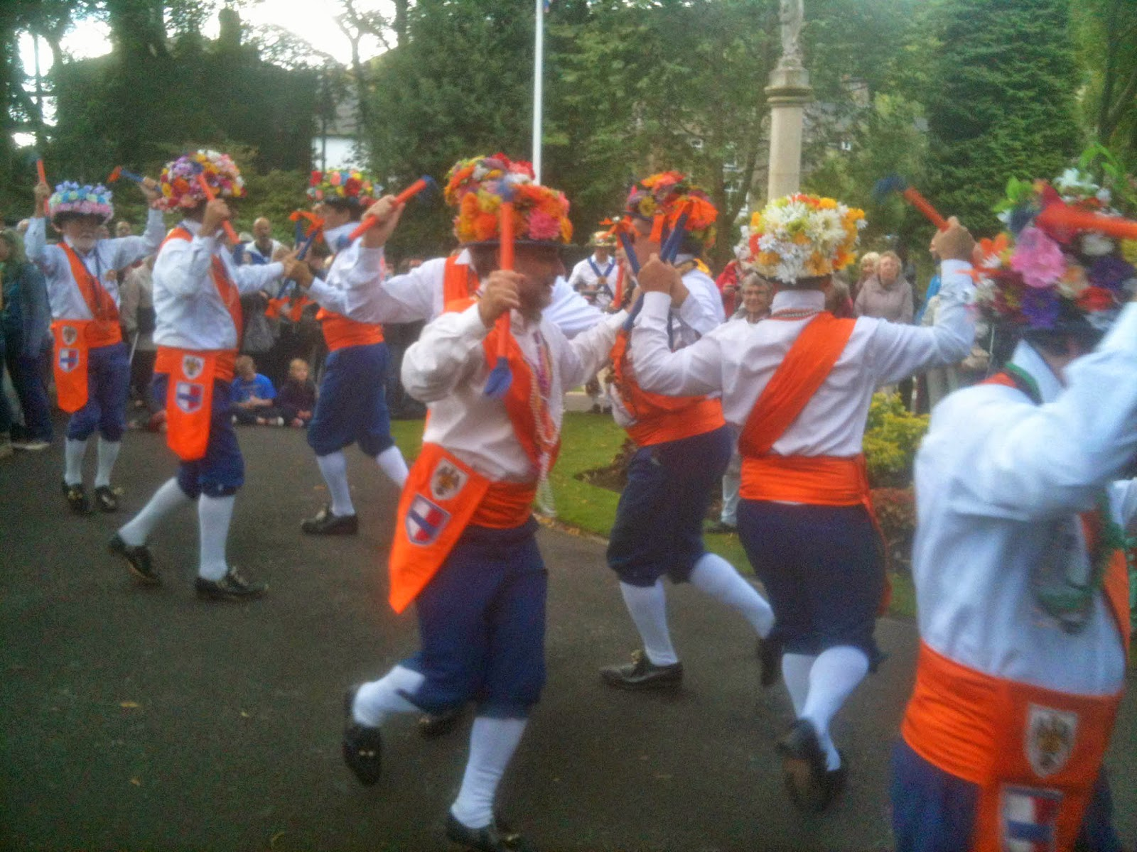 Morris dancing is drum 'n bells.