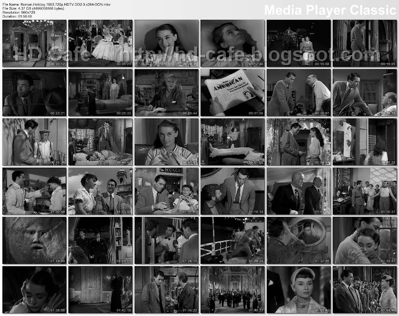 Roman Holiday 1953 video thumbnails