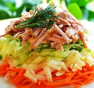 Салат с морковью по - корейски