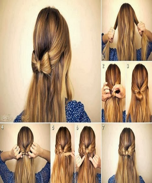 Best New Hair Style : New Best Quick and Simple Hair Style pics Tutorial Part 2 ~ Pak ...