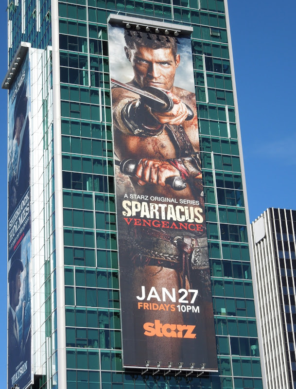 Spartacus Vengeance TV billboard