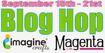 Blog Hop Imagine Crafts / Magenta