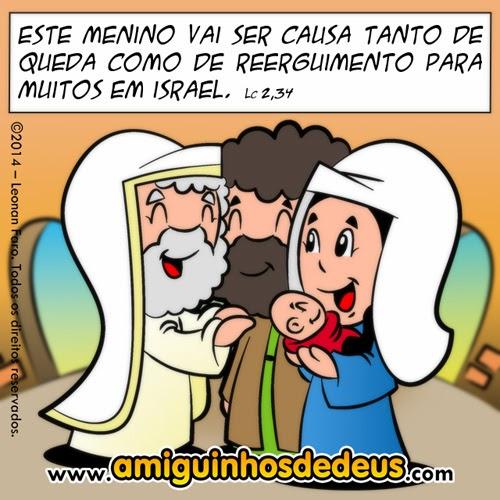 Jesus é apresentado no Templo desenho