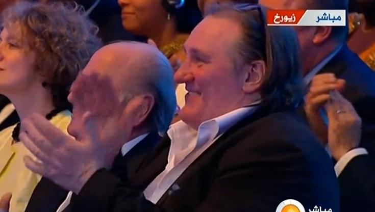 Gerard%2Bd%25C3%25A9pardieu%2Bassite%2Bcer%25C3%25A9monie%2Bballon%2Bd%2527or%2B2012 Ballon dOR 2012: Gérard Depardieu est présent