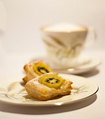 Ciastko francuskie z kiwi