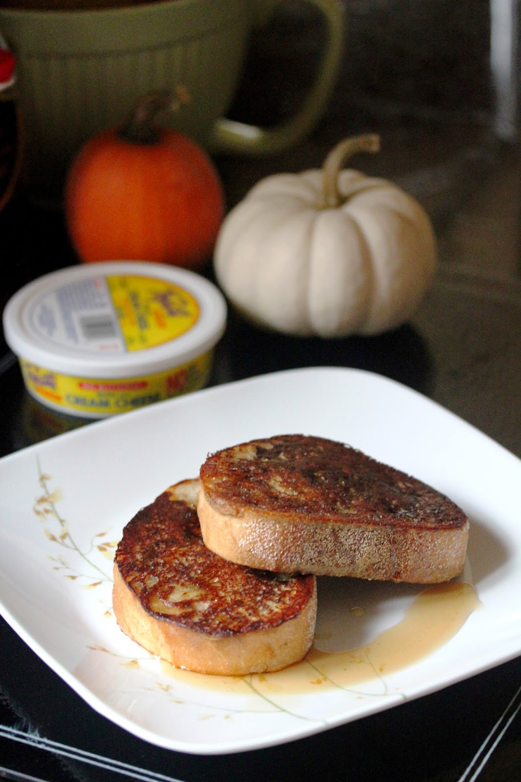 Kitchen Grrrls.: Vegan Pumpkin Cream Cheese Stuffed French Toast