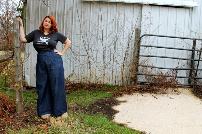 wearing history plus size smooth sailing 1940s trousers review