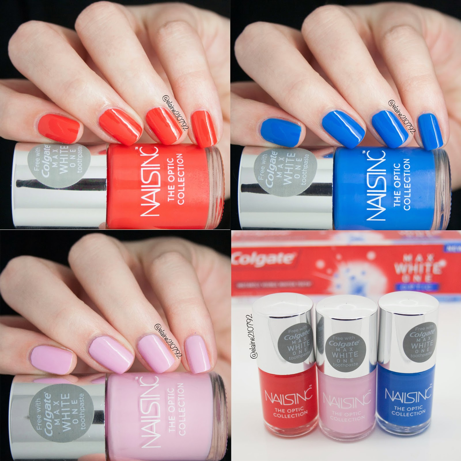 Elaine Nails: Free Nails Inc Nail Polish with Colgate Optic White ...