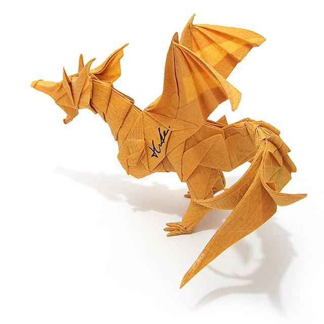 Kade Chan Origami Blog Fiery Dragon Ver