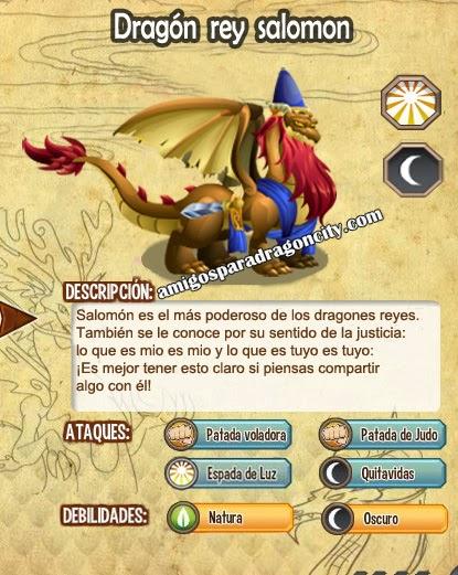 imagen de las caracteristicas del dragon rey salomon