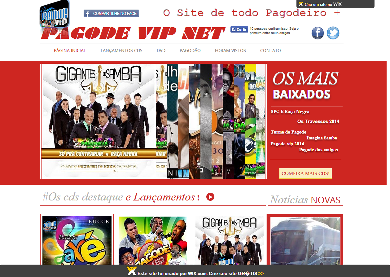 Site - PAGODE VIP NET