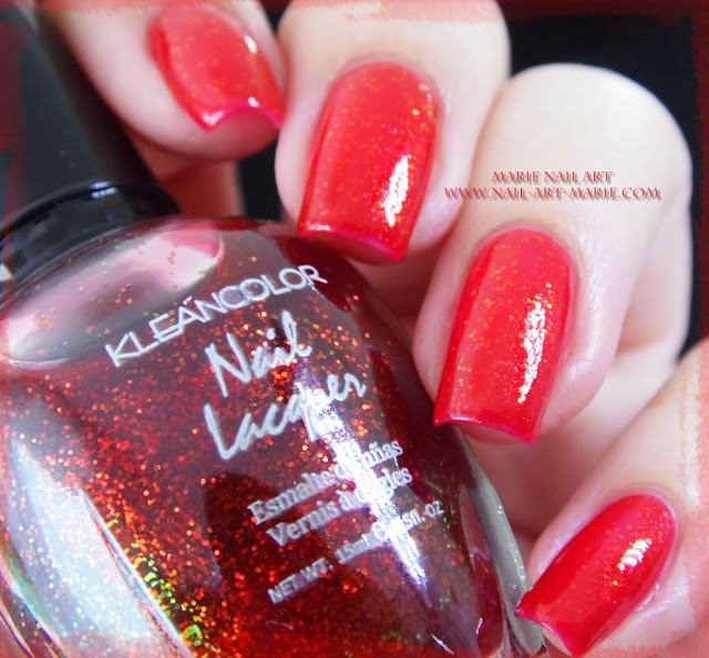 kleancolor chunky holo scarlet6