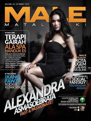 Alexandra Asmasoebrata Hot Model Male Maret 2013