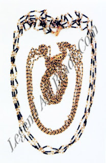 Black glass beads strung on fine gold wire are believed to be the most basic and potent tools to ward off evil spirits.