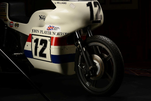 John Player Norton Replica (2013 John Player Norton Replica Price £65,000)  The 2013 John Player Norton recreates the iconic Replica 1973 John Player Norton. The 2013 John Player Norton Replica recreates the iconic 1973 John Player Norton 'Monocoque' raced by Peter Williams