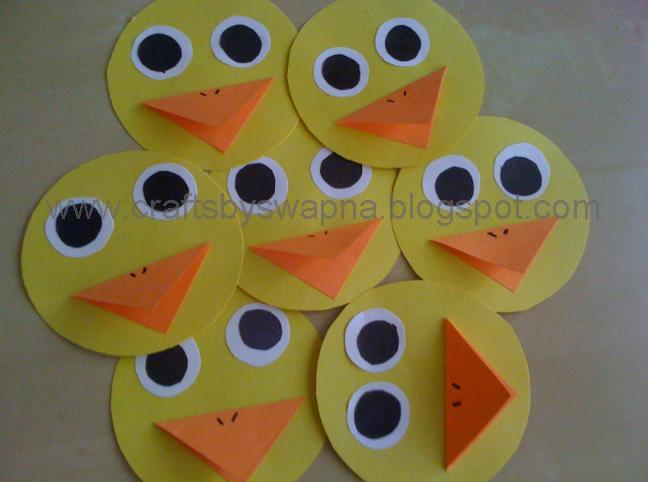 Mini Paper Duck This Is A Very Simple Craft For Toddlers