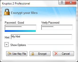 Kruptos 2 Professional - File Encryption