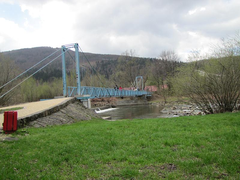 Ustroń-Polana. Kładka nad rzeką Wisłą.