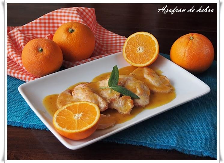 Pavo con salsa de naranja y salvia