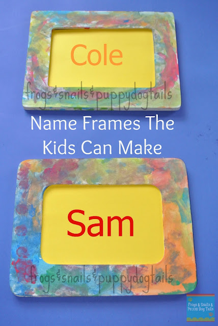 Name Frames - Frogs & Snails & Puppy Dog Tails
