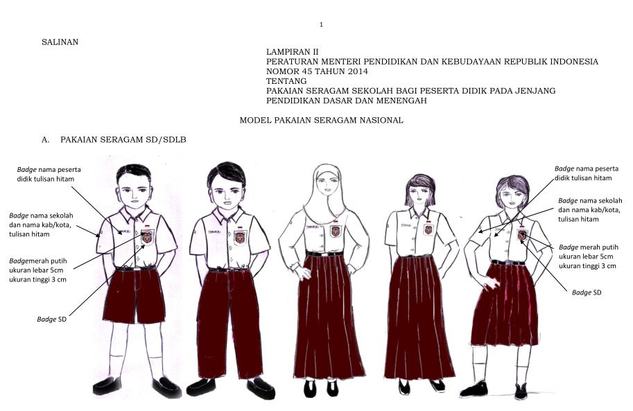 Download: Peraturan Mendikbud Tentang Seragam Sekolah di Indonesia