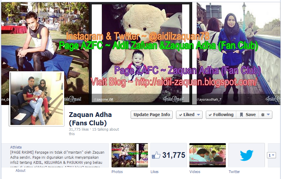 Page Zaquan Adha (Fan Club)