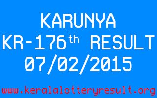 KARUNYA Lottery KR-176 Result 07-02-2015