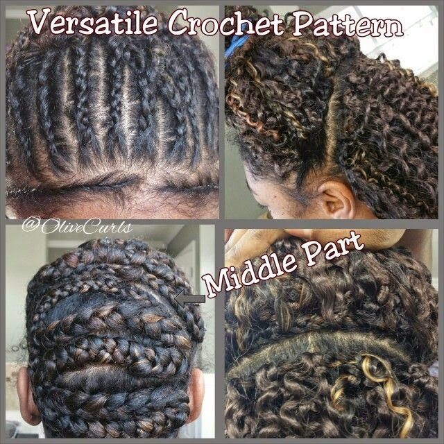 Crochet Braids Braiding Pattern : The two patterns above are the same, and should be able to give me ...