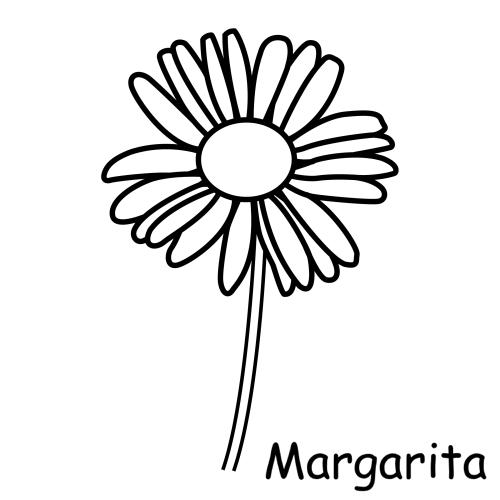 Dibujos para imprimir y colorear margaritas para colorear for Plantas ornamentales para colorear