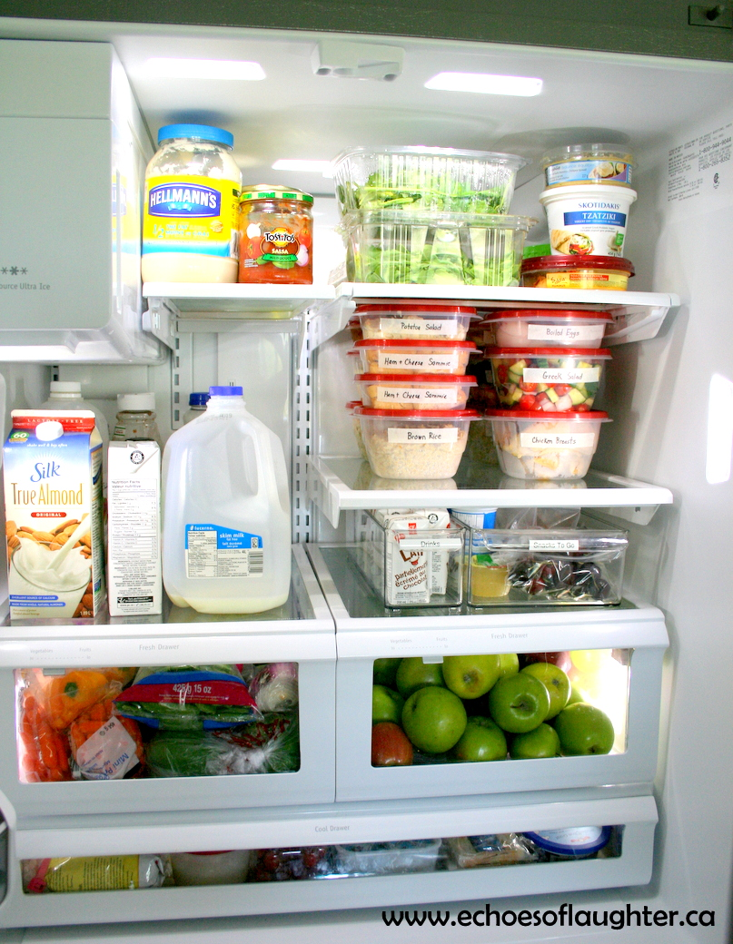 Organizing The Fridge for Healthy 'Fast Food' At Home ... Organized Refrigerator Healthy