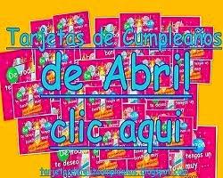 Abril -Tarjetas de Cumpleaños con Fechas