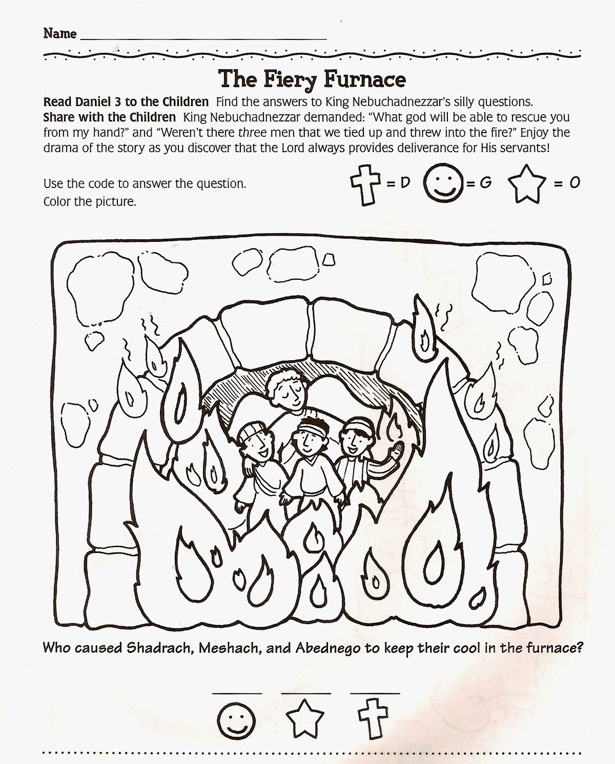 the fiery furnace coloring pages - photo#8