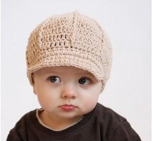 kiểu mũ len cho bé - mũ len lưỡi trai
