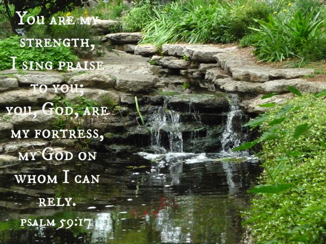 "Food for the Soul : ""You are my strength, I sing praise to you; you, God, are my fortress, my God on whom I can rely."" Psalm 59:17"