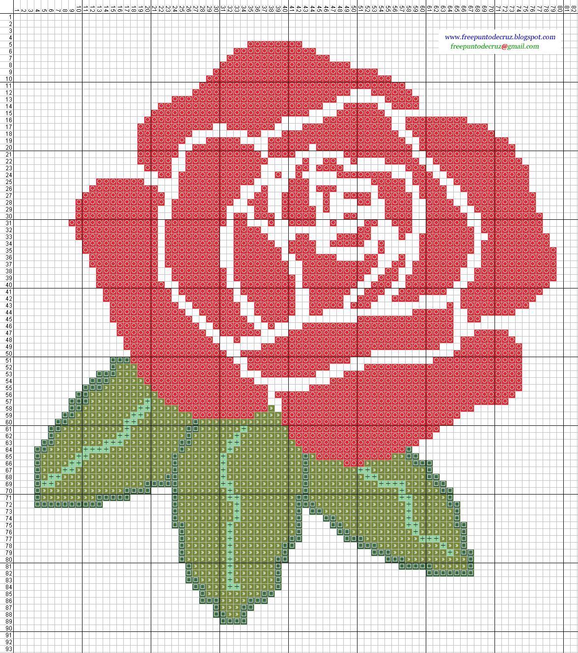 Dibujos punto de cruz gratis flores - Dibujos para hacer punto de cruz ...