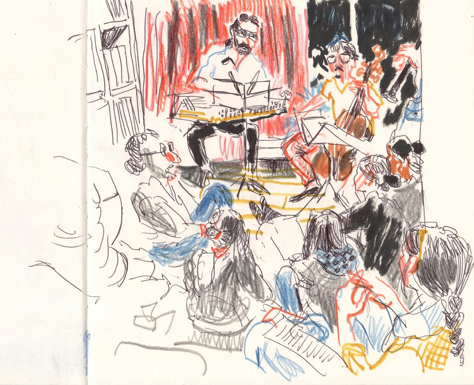 living room concerts. Living room concerts in Ledeberg  Ghent Urban Sketchers
