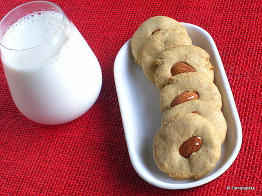 Eggless Banana Wheat Cookies